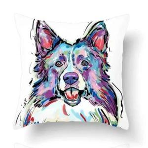 NWT Home Decor Collie Pillow Cover